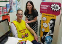 Cllr Pete West receiving the flu vaccination