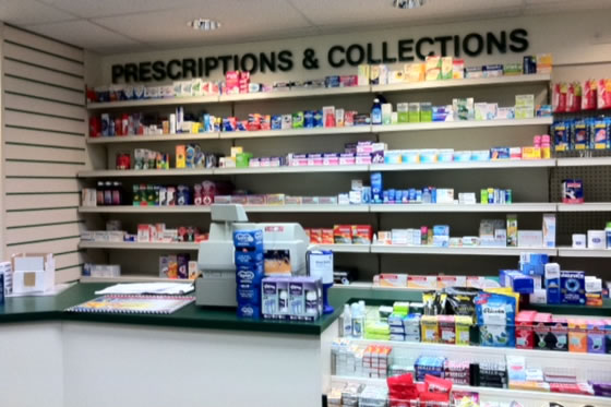 The new pharmacy counter